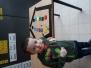Maart 2019: 3de kleuter, creatief ontwerpen met allerlei vormen met zorgjuf Caroline